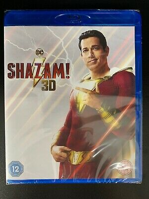 Shazam - 3D Blu ray + 2D Blu ray - Official UK Stock New & Sealed