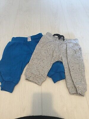2 x Next Boys Blue & Grey Joggers Age 6-9 Months