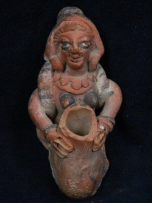 Ancient Teracotta Painted Figure Indus Valley 600 BC #SG4647