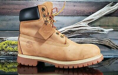 Timberland Mens Brown 6 Inch Double Sole Premium Leather