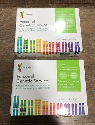 Lot Of 2 23andMe Personal Genetic Service Saliva Collection Kit- EXP 09/2020