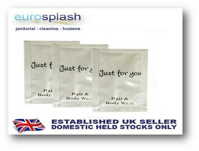 500 X 10Ml - Hair And Body Wash Sachets - Just For You - Hotel B&B Guest House