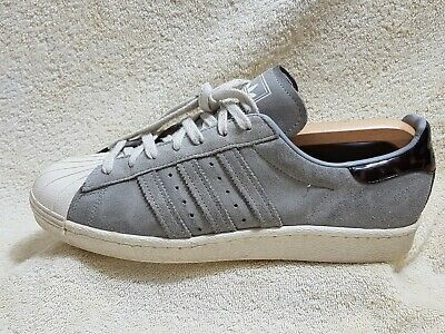 f5b0c1d7769e6 ADIDAS SUPERSTAR 80S mens Street trainers Leather Grey/White/Brown UK 8 EU  42