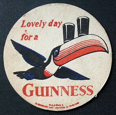 Beermat 1954 - GUINNESS - LOVELY DAY FOR A....  Cat 0015