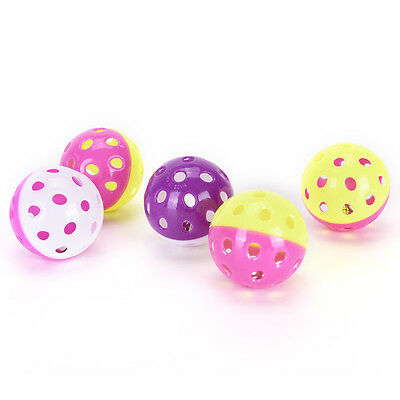 Pet Cat Kittens Play Balls With Jingle Lightweights Bell Pounce Chase Rattle To