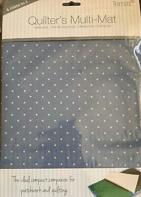 4 in 1 quitters multi mat - cutting, layout marking ironing mat blue spot cover