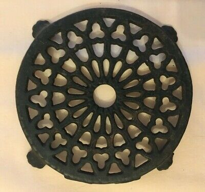 Round Pierced and Footed Cast Iron Trivet