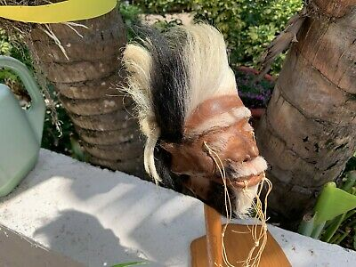 Traditional Model Jivaro Shrunken Head -Tsantsa