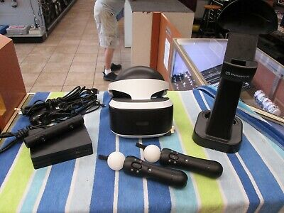 Sony PlayStation VR Bundle CUH-ZVR2 Camera & 2 Move Controllers, 2 Games & More