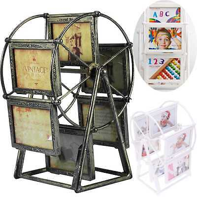 """5"""" Retro Style Embossment Ferris Wheel Photo Frame Windmill Picture Holders Gift"""