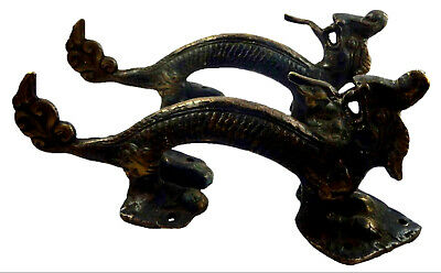 Dragon Shape Antique Finish Handmade Solid Brass Door Handles Knobs Home Decor