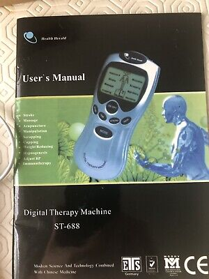 Digital Tens Therapy Machine Full Body Massager Pain Relief acupuncture 4 Pads
