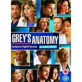 Grey's Anatomy - Series 8 - Complete (DVD, 2012, 6-Disc Set, Box Set) very good