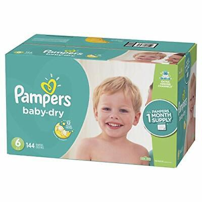 Pampers Baby Dry Disposable Diapers, 144 Count Size 6