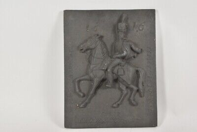 f17a31- Gusseisen Relief Husar 1816, 20.Jh