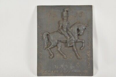 f17a32- Gusseisen Relief Husar 1835, 20.Jh