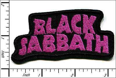 "30 Pcs Embroidered Iron on patche Black Black Sabbath Band 3.15""x1.42"" AP056iA"