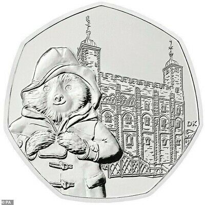 New Uncirculated 2019 Paddington Bear At The Tower Of London 50P Coin
