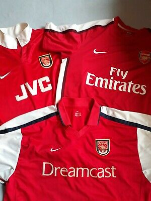 reputable site 20894 f0cf5 3 MENS VINTAGE Arsenal Football Soccer Kit Jersey Training top.