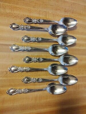 Heritage 1847 Rogers Bros Silverplate 8 Soup Spoons