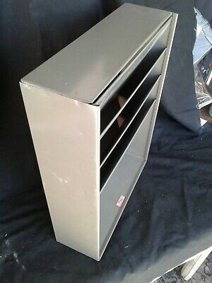 GWS Mail Sorter Box Organizer Vintage Metal Grey Gray