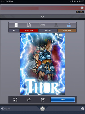 Topps Marvel Collect Card Trader Thorsday Week 14  Norse Thor 750cc Digital
