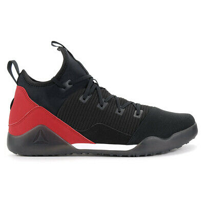 Reebok Men's Combat Noble Trainer Black/White/Red Training Shoes BS6179 NEW!
