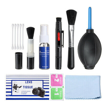 9 In 1 Professional Lens Cleaning Cleaner Kit For Canon Nikon Sony DSLR Cameras