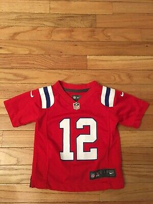 Tom Brady New England Patriots NFL Players Nike On Field Alt Red Toddler Jersey