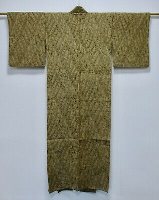 Japanese Hemp Cloth Antique Hitoe Kimono / Rare Vintage Hemp Fabric /71