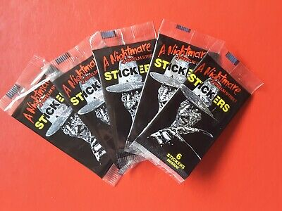 1984 A Nightmare on Elm Street Trading Stickers x 5 Packets