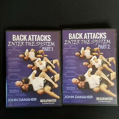 BACK ATTACKS: Enter The System John Danaher BJJ DVDs Part 1 and 2 8 Vol Set