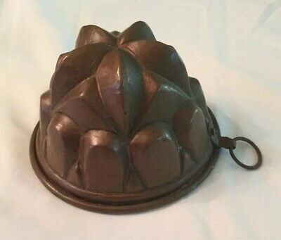 Antique Vintage Tin and Copper FOOD MOLD  #2