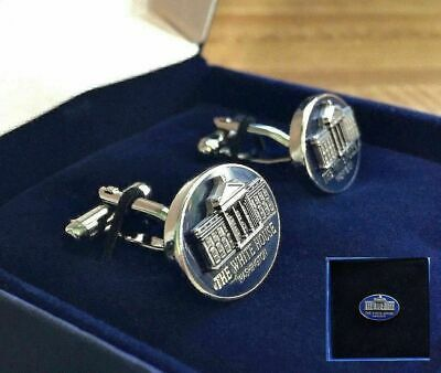 Authentic President Trump White House Seal Cufflinks & Lapel Pin - Presidential