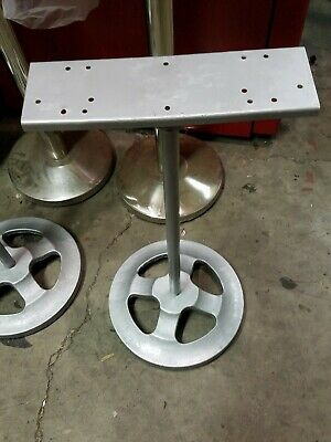 Nice Used two place stand silver cast iron holds two machines on it BN