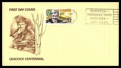 Mayfairstamps 1969 Canada FDC Leacock Centennial First Day Cover wwb47901