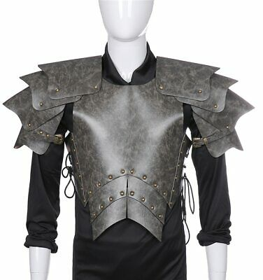 Medieval Retro Armor Halloween Carnival Cosplay  Men's Pu Leather Knight Armor