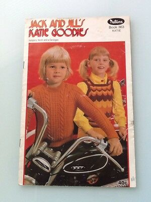 Patons Knitting Pattern Book, Jack And Jill Katie Goodies, Book No. 363