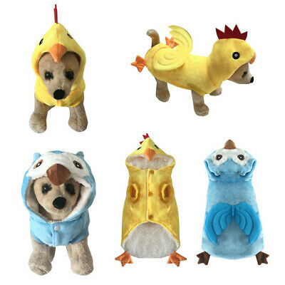 Cosplay Puppy Dog Funny Clothing Cotton Hoodie Chicken Owl Costume For Pet S-XL