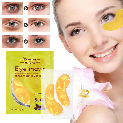 5Pairs GOLD Collagen Eye Mask Crystal Anti-Wrinkle Anti-Ageing Under Gel Patch##