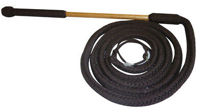 NEW Working Stock Whip Nylon 4 5 or 7' with bamboo handle Brown FREE POST