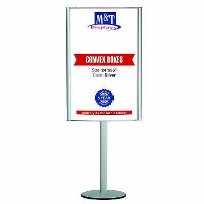 Free Standing Double Sided Advertising Poster Snap Stand, Floor Display- 24X36""