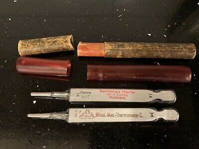 Antique Medical Thermometors From Germany