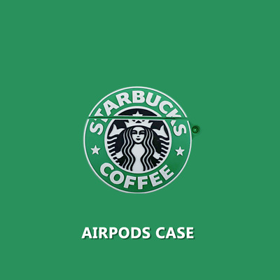 Starbucks Coffee 3D Silicone Case Cover For Apple Airpods (1st & 2nd Generation)