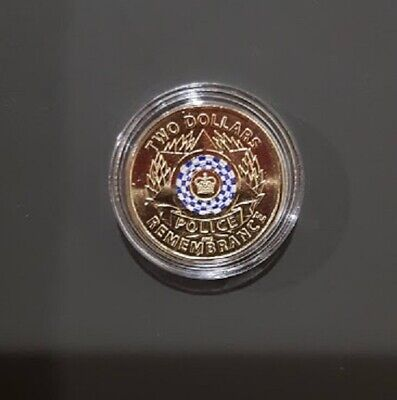 """2019 $2 Dollar Coin   """"POLICE REMEMBRANCE"""" - UNC - Protected in capsule"""