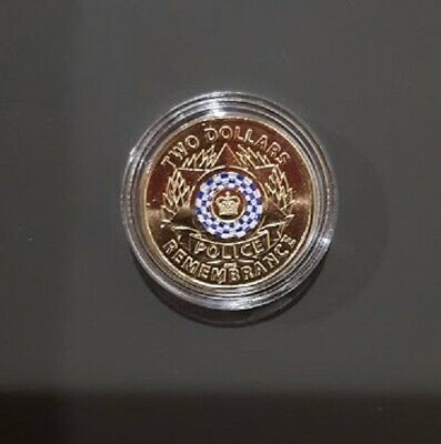 """*HOT* 2019 $2 Dollar Coin   """"POLICE REMEMBRANCE"""" - UNC - Protected in capsule"""