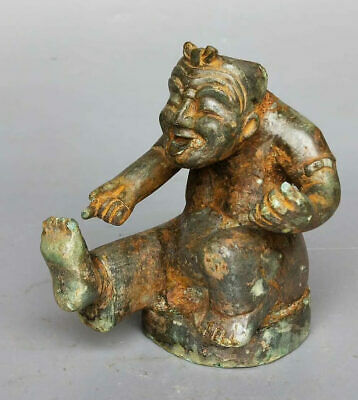 China Ancient ShangZhou Dynasty Tomb Burial Bronze Figure Statue Old Ornament 人俑