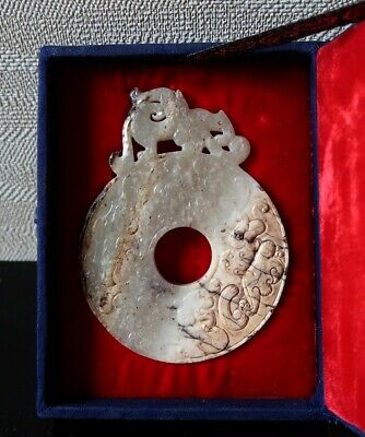 Museum Quality Ancient Chinese Jade Disk Han Dynasty?