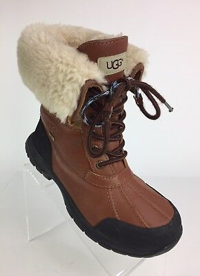 cae29f72b92 UGG AUSTRALIA BUTTE Brown Waterproof Leather Men's Boots VIBRAM SOLE ...