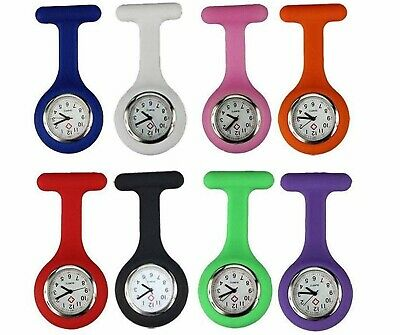 Silicone Nurse Watch Brooch Tunic Fob Nursing Nurses Pendant Clip Pocket Battery